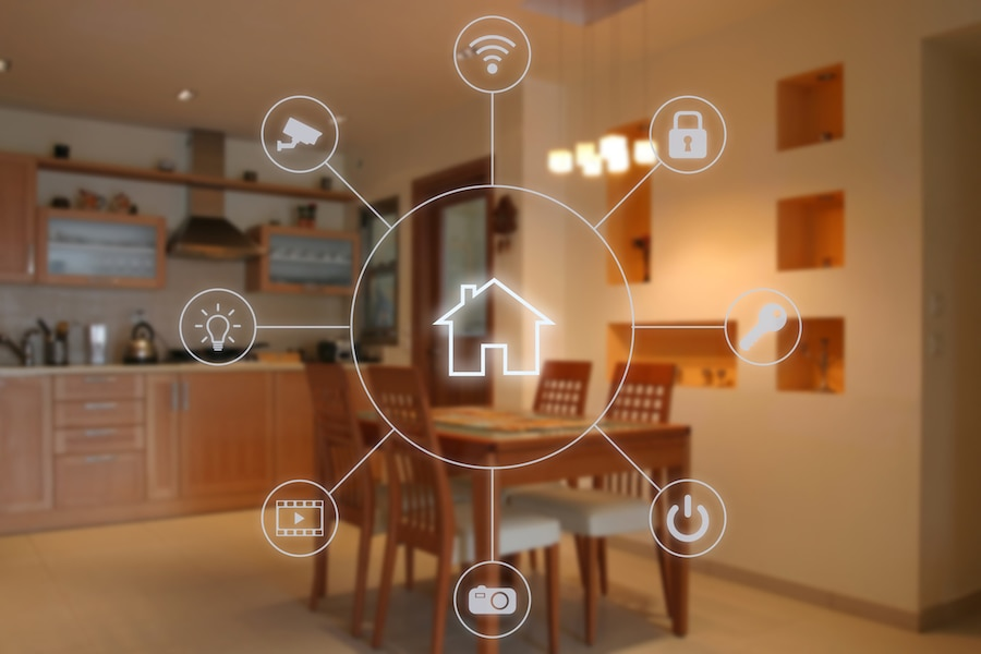 Smart home software application internet technology.
