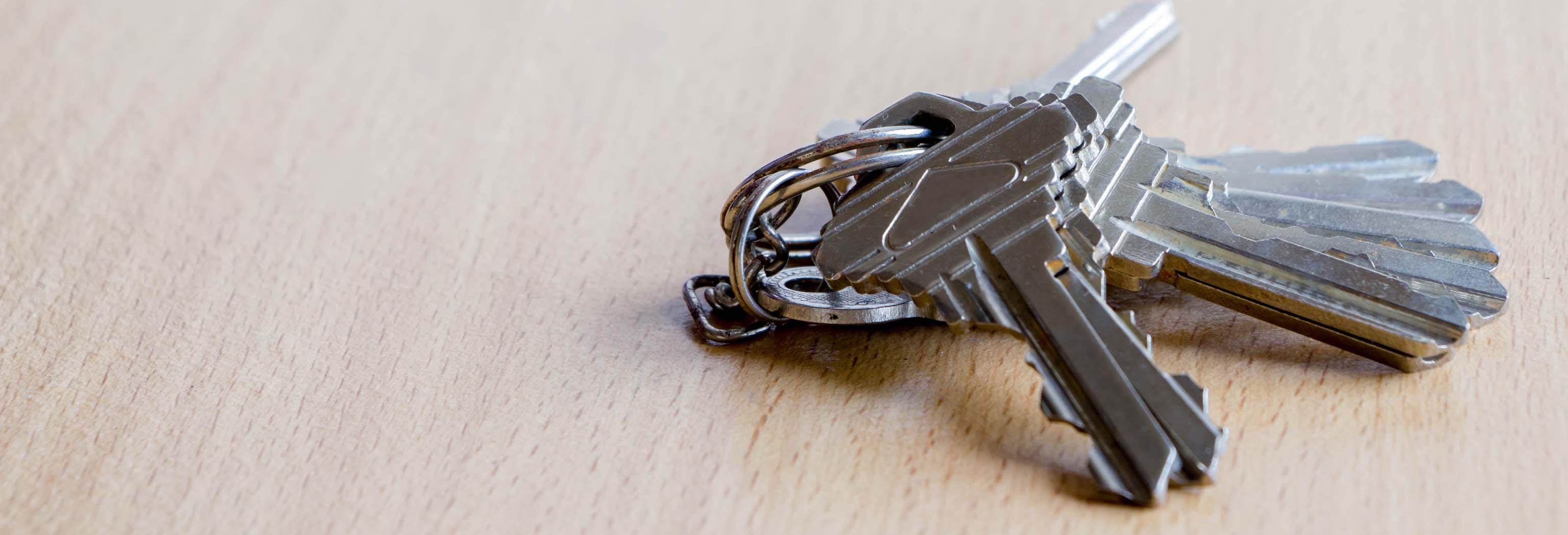 Keys on wood table